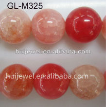 pink round agate beads loose bead string semi precious stone