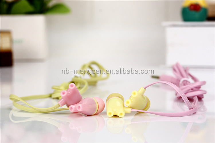 NoveltY colorful stereo earphone for girls