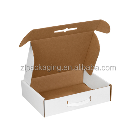 plastic handles corrugated packaging carton boxes