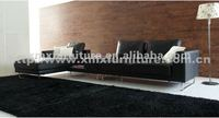 high quality living room furniture-leather/fabric sofa(2917a+e+g)