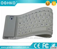 Silicone Wireless keyboard with bluetooth receiving mode