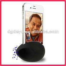 New arrival egg shape silicon for iphone case loud speaker