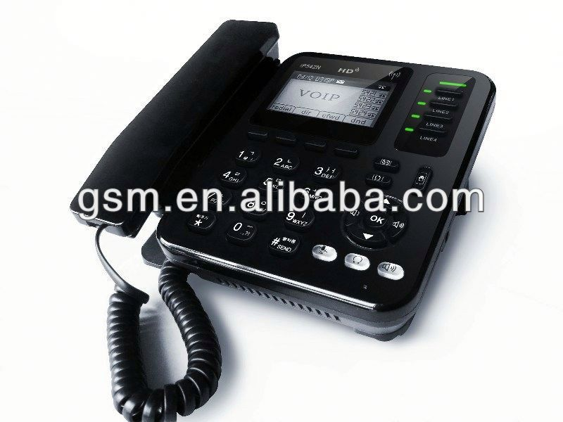WIFI sip phone with POE/ip phone wirelss phone 4 line/voip telecom