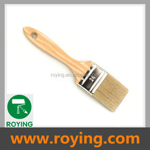 Touch up natural bristle brush with wodden handle