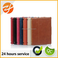 high end stand leather case for ipad 2,for ipad 3 look old case,retro case for ipad