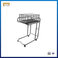 stainlesss steel medical purpose baby carriage