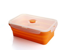silicone double holes food container single layers lunch box