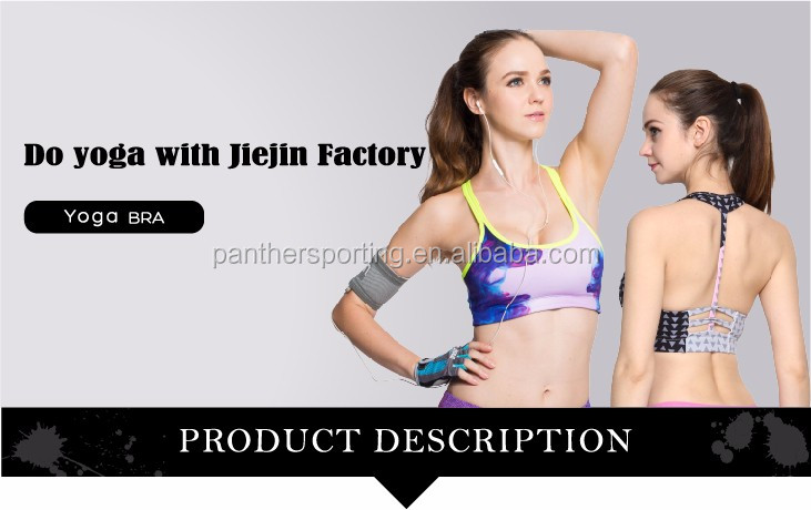 Women Sport Bra Padded Crossed Band Running Fitness Seamless Bra Wholesale Women Dresses