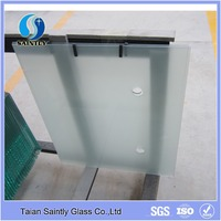 High quality sandblast tempered decorative glass