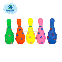 Bowling pin pet toy for dog