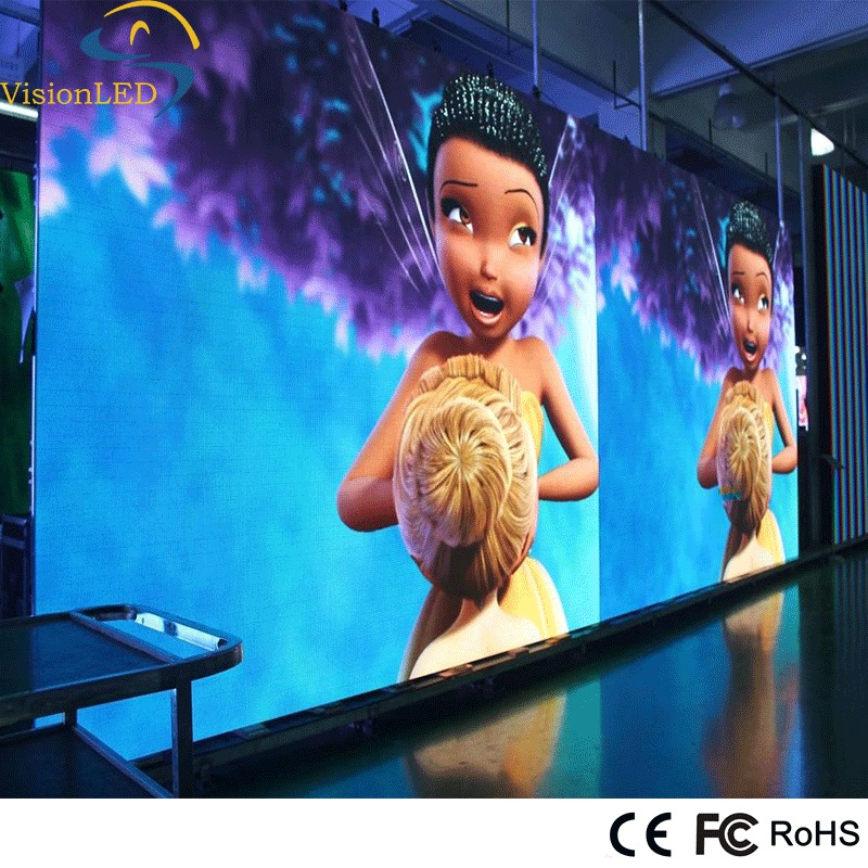 Full color SMD P6 fixed indoor LED display screen with iron cabinet video display