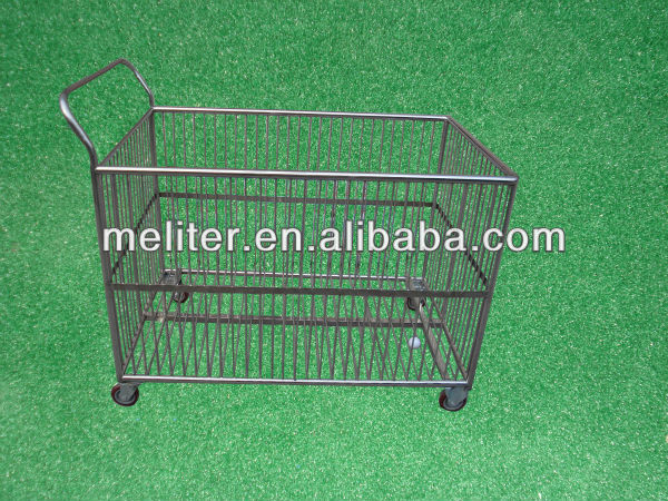 Durable metal wire decorative golf ball basket