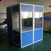 Tourgo portable Simultaneous Interpretation system isolation interpreter booth suitable two person with blue color