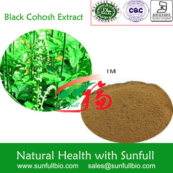pure natural black cohosh extract by china supplier