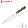 Wooden handle professional chef knife