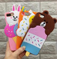 Ice lolly bear duck silicone case cover for iPhone 6/6 plus/7/7 Plus