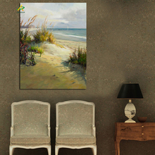 Beach scenery oil painting framed digital print pictures for home decoration