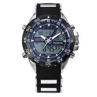 Design Men Logo waterproof Multifunction LED Digital silicone wristband watch