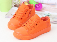 FC2553 boys girls shoes candy pure color sport casual canvas children shoes 2016 spring autumn