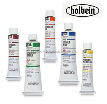 Various colors of Japanese Holbein oil colors for animal oil painting of tiger