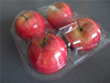 clear eco-friendly plastic PET 4 apple container