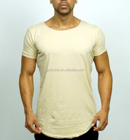Cotton Spandex dry fit Soft feeling men t shirts/ training gym t shirt from China H-1830