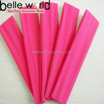 adult and kids sport solid color nylon spandex headbands