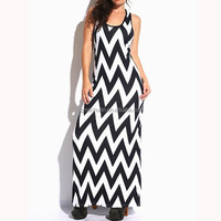 Summer hot sale chevrondress jersey maxi latest dress designs for women