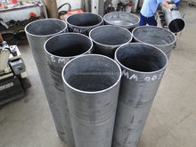 Competitive price extruded mill finish large diameter aluminium pipe