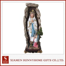 Custom Design Home Decoration Resin Virgin Mary Religious Statue