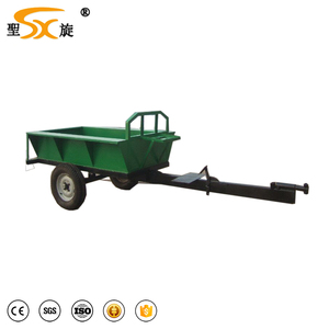CE proved walking tractor power tiller Durable mini farm trailer small trailer