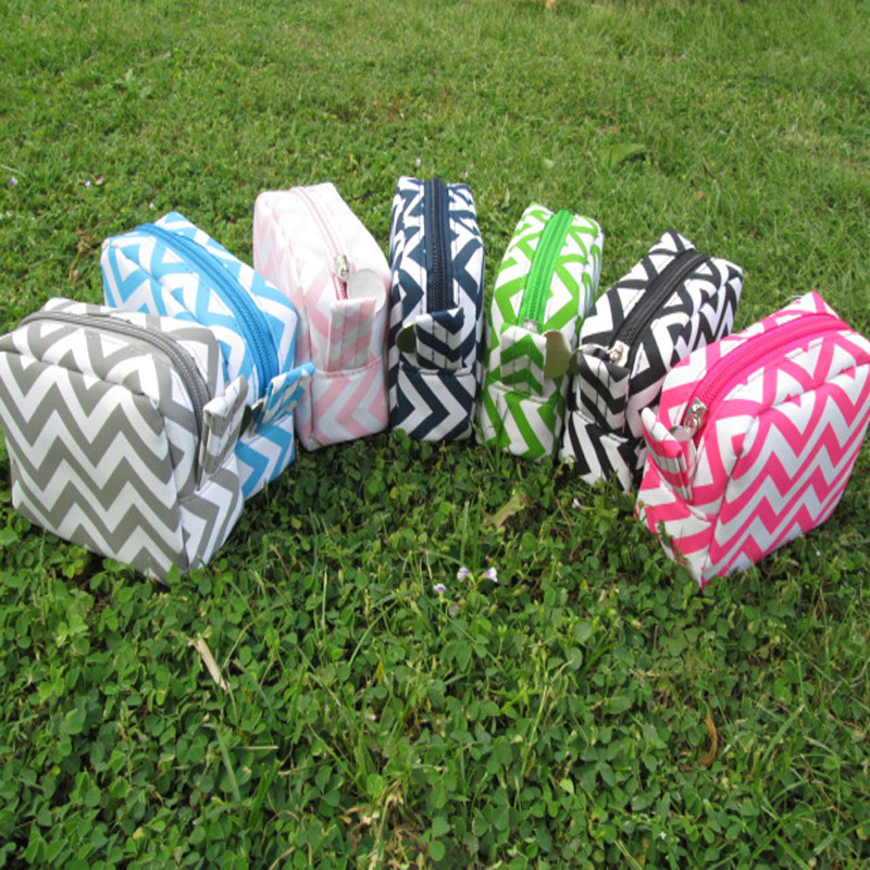 ab0d199bf5db Wholesale Blanks Chevron Cosmetic Bags Makeup Bags Dom 104068 - Buy Cosmetic  Bags