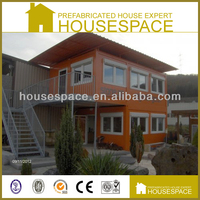 Fireproof Sandwich Panel Double Slope Roof Prefab Container House