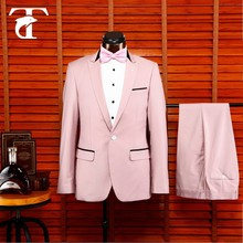classic Tea rose,hand made,custom tailored mens evening party suit