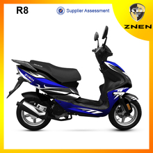 ZNEN new Patent Scooter 50CC LED lights EEC approved water cooling engine vespa Gas Scooter