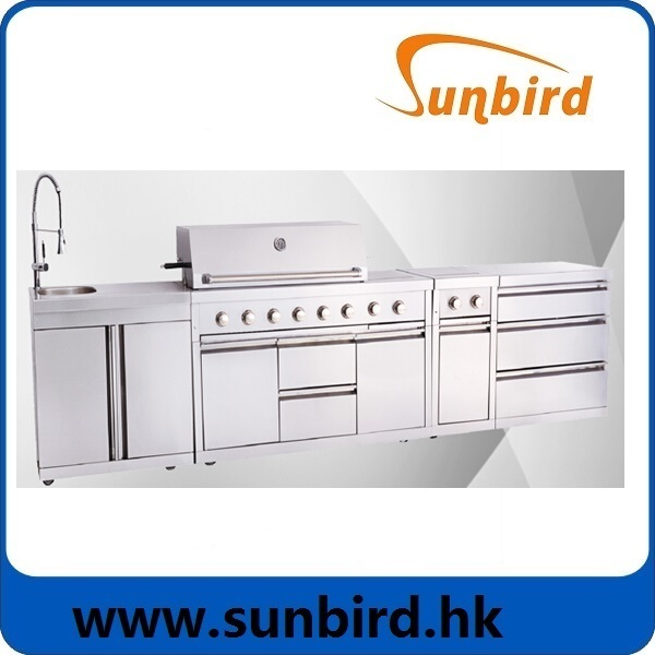 Top grade!! Full 304SS outdoor BBQ kitchen with AGA,CE,CSA