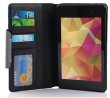 PU slot leather case for Google nexus7 2nd Gen Asus Tablet