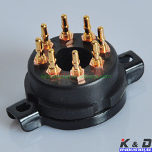 Factory price EL34 6550 KT88 CMC 8pin Bakelite Gold Tube Sockets