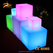 Large Size LED Cube / LED decorated Cube Chairs / Light cube chair