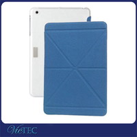 Good design folds for ipad mini 3 auto sleep and wake up smart leather tablet cover