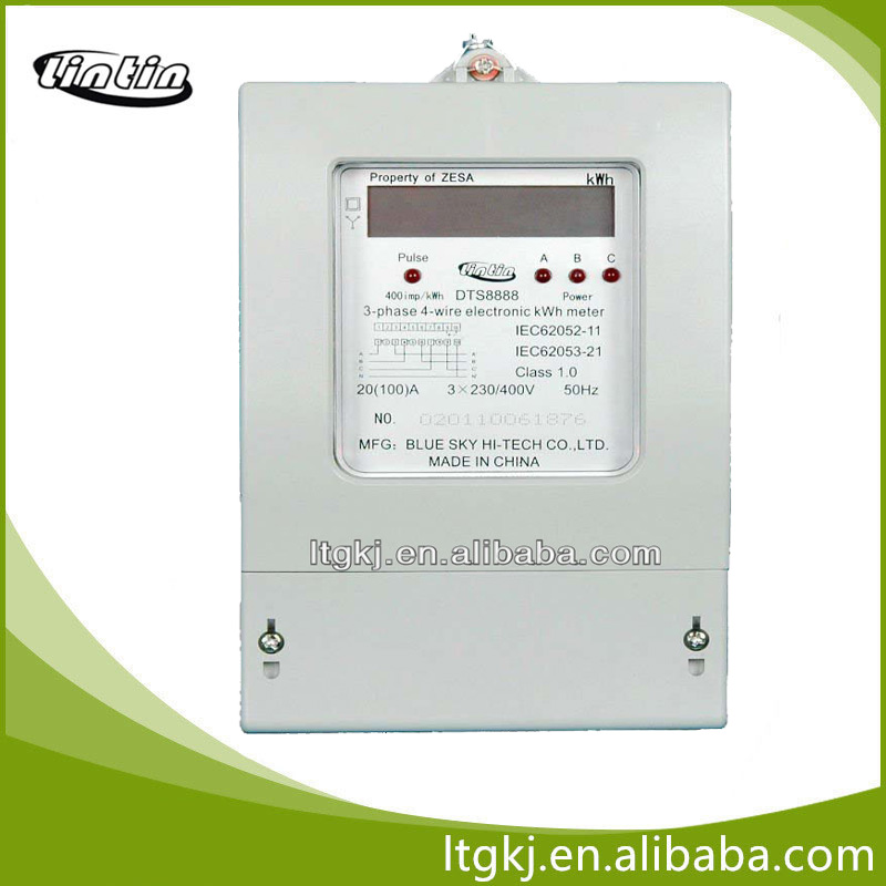 Three phase four wire electronic/digital/LCD/kwh energy meter,Smart energy meter with high quality and cheap price made in China