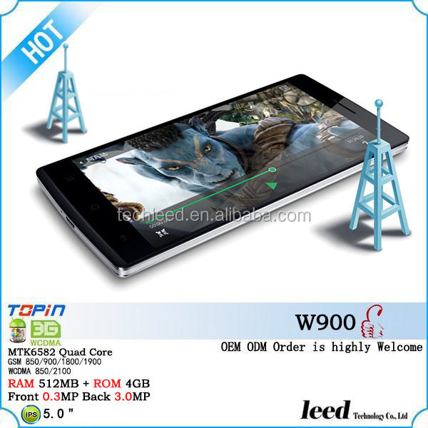 Best TECHNO Android phone dual sim WCDMA Quad core phone W900 MTK6582 mobile phone