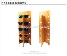 Bamboo Glasses Display Stand Removable Fashion Sunglasses Racks For 5 Glasses Display Shelf Wood Wholesale