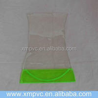 transparent with light green bottom plastic square vases for flowers XYL-V-V059