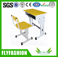 Wooden Middle High Quality Modern School Desk And Chair