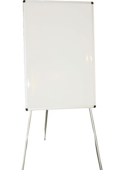 tripod flipchart easel with aluminum frame and magnetic dry erase surface