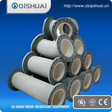 abrasion resistant alumina ceramic lined pipes