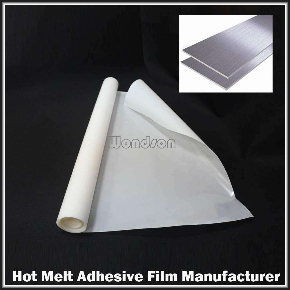 Amber Hot Melt Adhesive Film Iron On Fabric Garment Abs Wood