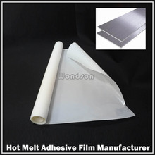 Amber Hot Melt Adhesive Film Iron on Fabric Garment ABS Wood Veneer Laminate Glue Film