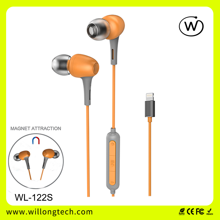 Earphones with Mic & Attaching Magnet